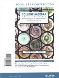 College Algebra in Context, Books a la Carte Edition Plus Mylab Math with Pearson Etext -- Access Card Package