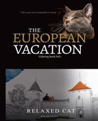 Relaxed Cat's European Vacation 1: A Calming Coloring Experience