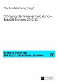 Staerkung Der Innenentwicklung - Baugb-Novelle 2012/13