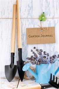 Garden Journal: Lavendar and Garden Tools Gardening Journal, Lined Journal, Diary Notebook 6 X 9, 180 Pages