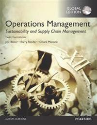 Operations Management: Sustainability and Supply Chain Management