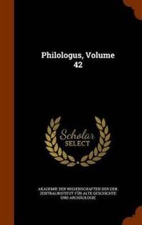 Philologus, Volume 42