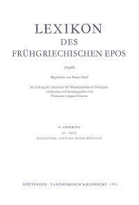 Lexikon Des Fruhgriechischen Epos Lfg. 15