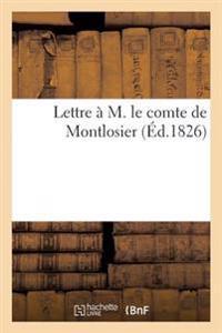 Lettre A M. Le Comte de Montlosier