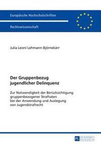 Der Gruppenbezug Jugendlicher Delinquenz: Zur Notwendigkeit Der Beruecksichtigung Gruppenbezogener Straftaten Bei Der Anwendung Und Auslegung Von Juge