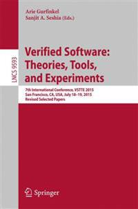 Verified Software Theories, Tools, and Experiments