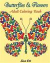 Butterflies and Flowers: Adult Coloring Book