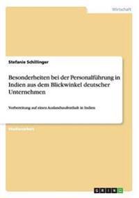 Besonderheiten Bei Der Personalfuhrung in Indien Aus Dem Blickwinkel Deutscher Unternehmen