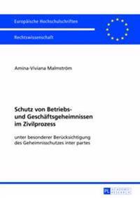 Schutz Von Betriebs- Und Geschaeftsgeheimnissen Im Zivilprozess: Unter Besonderer Beruecksichtigung Des Geheimnisschutzes Inter Partes