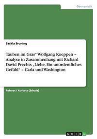 """Tauben im Gras"""" Wolfgang Koeppen - Analyse in Zusammenhang mit Richard David Prechts """"Liebe. Ein unordentliches Gefühl"""" - Carla und Washington"""