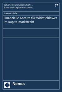 Finanzielle Anreize Fur Whistleblower Im Kapitalmarktrecht