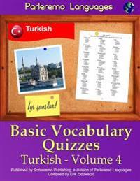 Parleremo Languages Basic Vocabulary Quizzes Turkish - Volume 4
