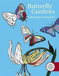 Butterfly Gardens Adult Coloring Book