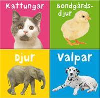 Pigga pekböcker - Djur, Valpar, Kattungar och Bondgårdsdjur (4 minipek)