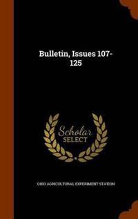 Bulletin, Issues 107-125