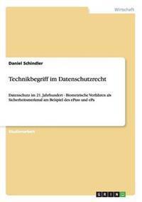 Technikbegriff Im Datenschutzrecht