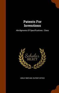 Patents for Inventions