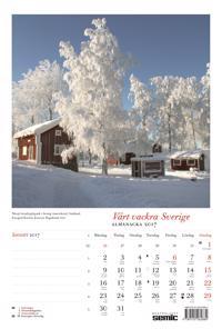 Vårt vackra Sverige almanacka 2017