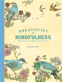 Kreativitet och mindfulness - 100 bilder på fåglar att färglägga själv