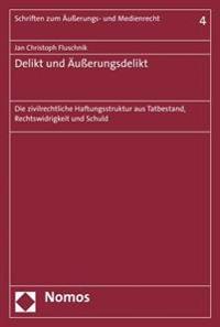 Delikt Und Ausserungsdelikt: Die Zivilrechtliche Haftungsstruktur Aus Tatbestand, Rechtswidrigkeit Und Schuld