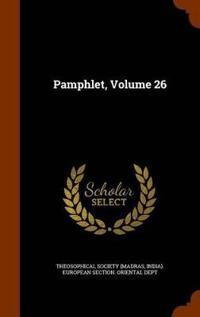 Pamphlet, Volume 26