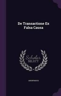 de Transactione Ex Falsa Causa