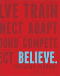 Believe Training Journal Classic Red
