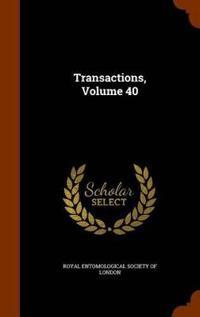 Transactions, Volume 40