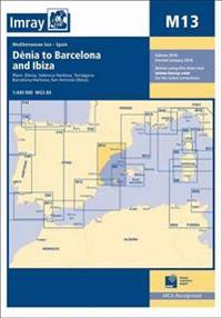 Imray chart m13 - denia to barcelona and ibiza