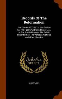 Records of the Reformation