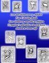 Leer Het Hebreeuwse Alfabet Fun Coloring Book Voor Kinderen Van Alle Leeftijden 22 Pagina's Afdrukken in Een Boek Abstracte Kunst Stijl