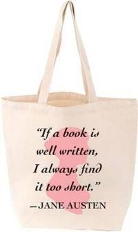 Lovelit Tote Jane Austen Quote