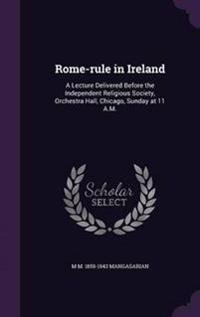 Rome-Rule in Ireland