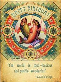 Birthday Fishes - Greeting Cards, Pkg of 6: Greeting: Happy Birthday - The World Is Mud-Luscious and Puddle-Wonderful! (Blank Inside)