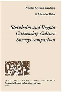 Stockholm and Bogotá Citizenship Culture Surveys comparison