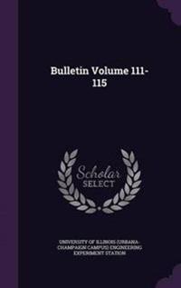 Bulletin Volume 111-115