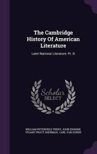 The Cambridge History of American Literature