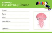Penpals for Handwriting Pen Licence Cards