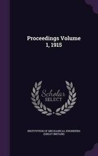 Proceedings Volume 1, 1915