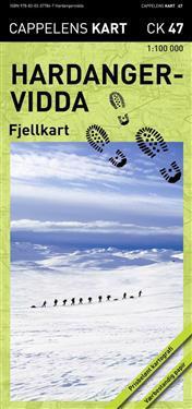 Hardangervidda Fjellkart CK47 : 1:100000