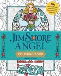 Jim Shore Angel Coloring Book: 50] Glorious Folk Art Angel Designs for Inspirational Coloring