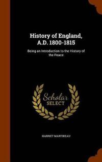 History of England, A.D. 1800-1815