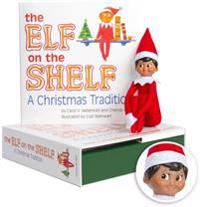 The Elf on the Shelf (Boy): A Christmas Tradition [With Book](Dark boy)