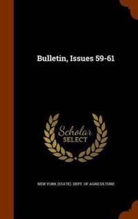 Bulletin, Issues 59-61