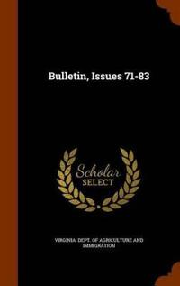 Bulletin, Issues 71-83