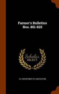 Farmer's Bulletins Nos. 801-825