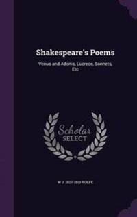 Shakespeare's Poems