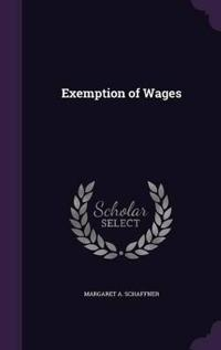 Exemption of Wages