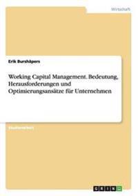 Working Capital Management. Bedeutung, Herausforderungen Und Optimierungsansatze Fur Unternehmen