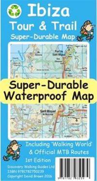 Ibiza Tour Trail Super Durable Map David Brawn Kartta